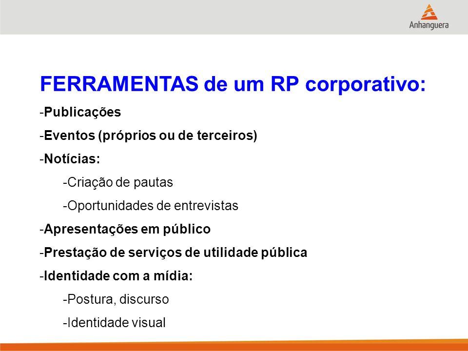FERRAMENTAS de um RP corporativo:
