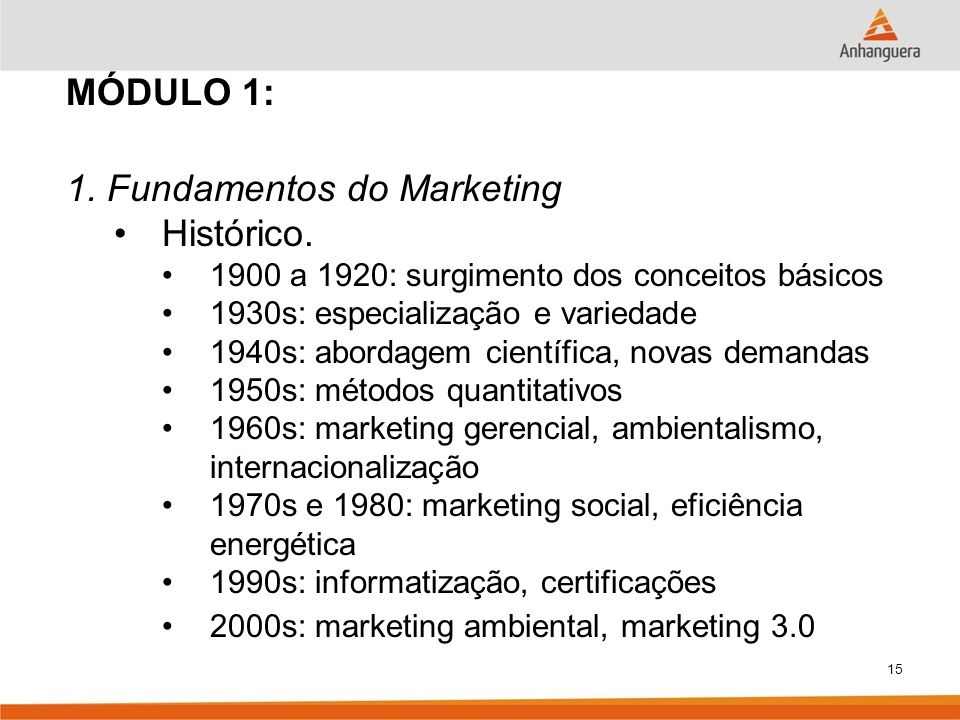 1. Fundamentos do Marketing Histórico.