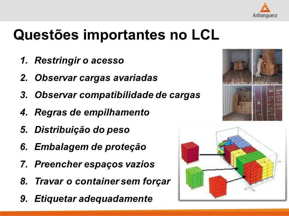 Questões importantes no LCL