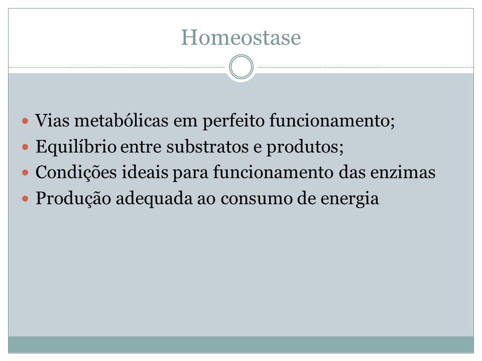 Homeostase Vias metabólicas em perfeito funcionamento;