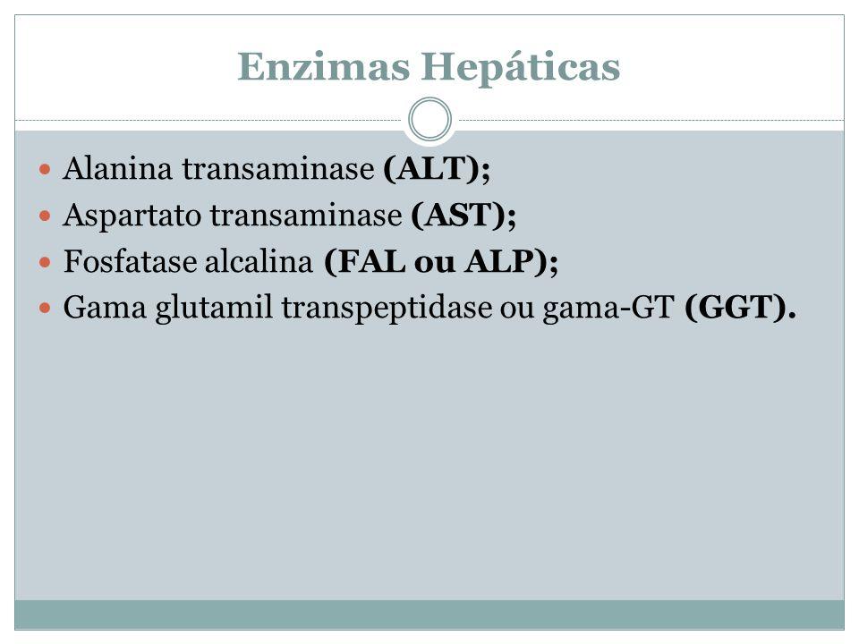 Enzimas Hepáticas Alanina transaminase (ALT);