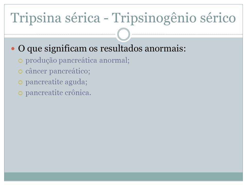 Tripsina sérica - Tripsinogênio sérico