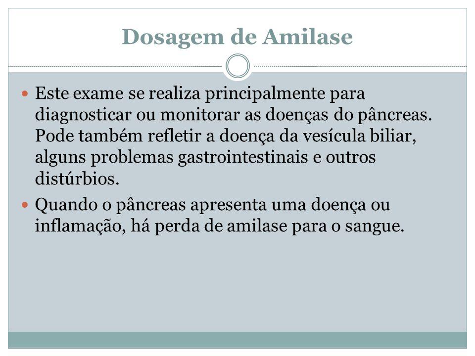 Dosagem de Amilase