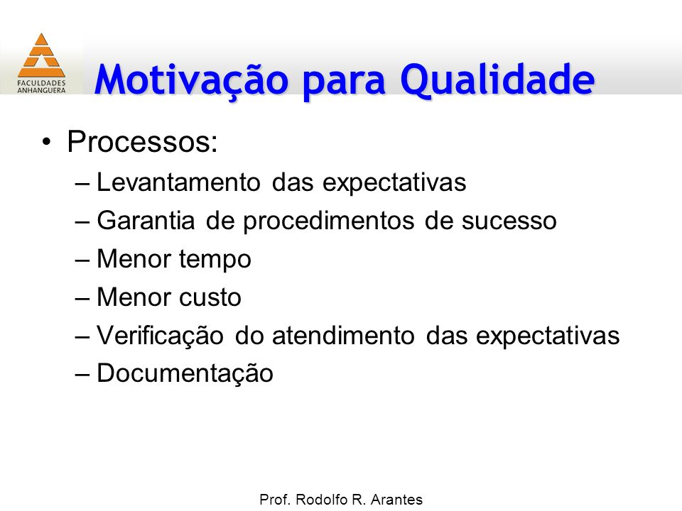 Processos: Levantamento das expectativas