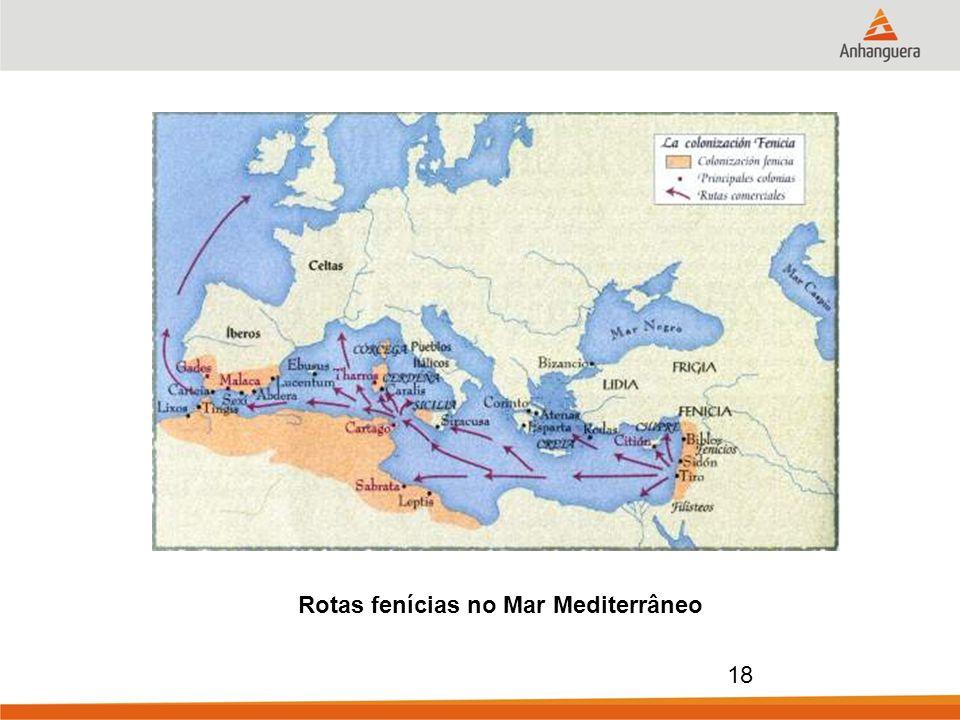 Rotas fenícias no Mar Mediterrâneo