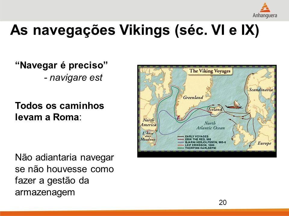 As navegações Vikings (séc. VI e IX)