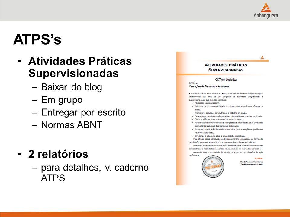 ATPS's Atividades Práticas Supervisionadas 2 relatórios Baixar do blog