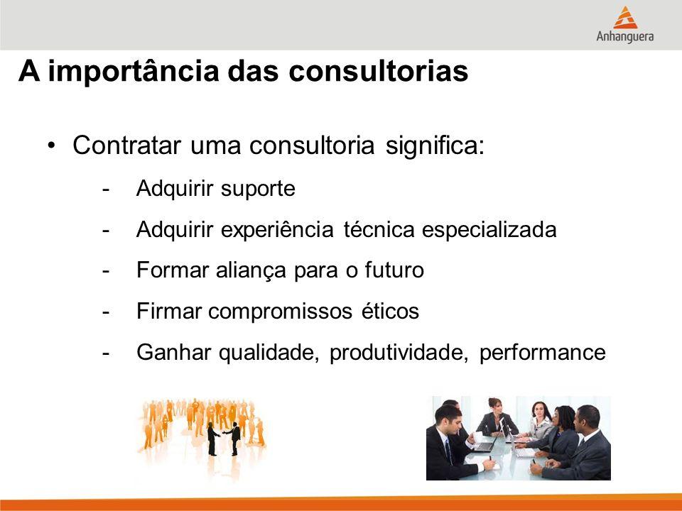 A importância das consultorias