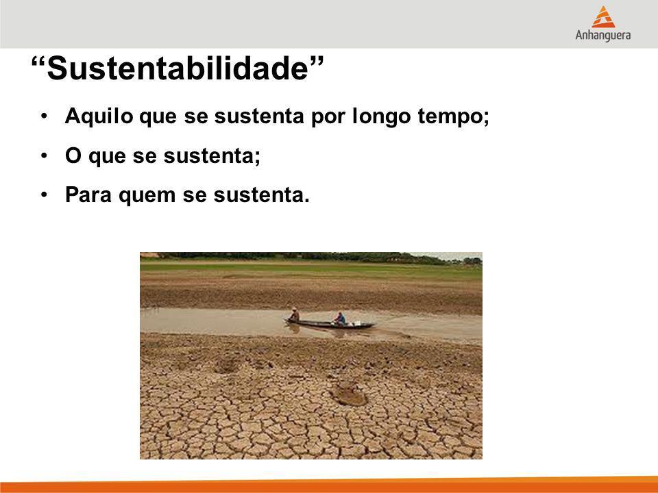 Sustentabilidade Aquilo que se sustenta por longo tempo;