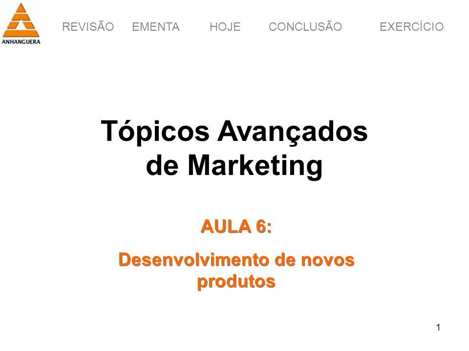 Tópicos Avançados de Marketing Desenvolvimento de novos produtos