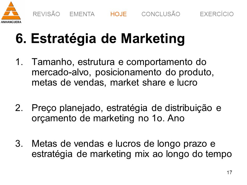 6. Estratégia de Marketing