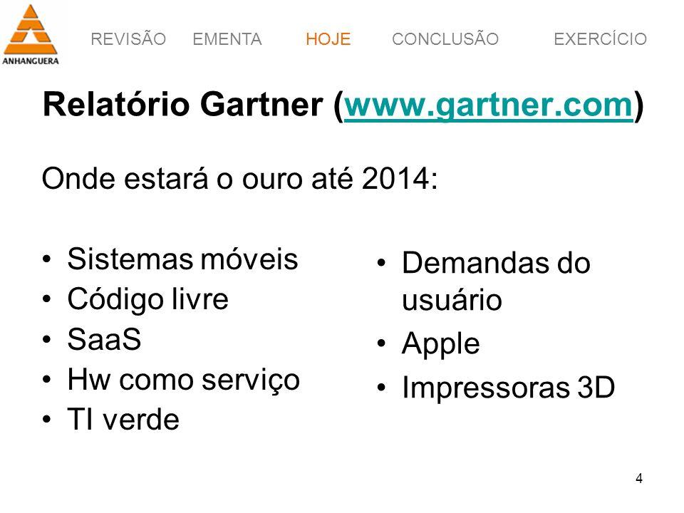 Relatório Gartner (www.gartner.com)