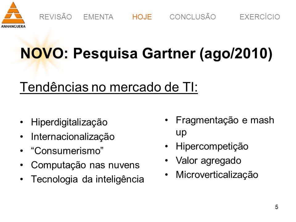NOVO: Pesquisa Gartner (ago/2010)