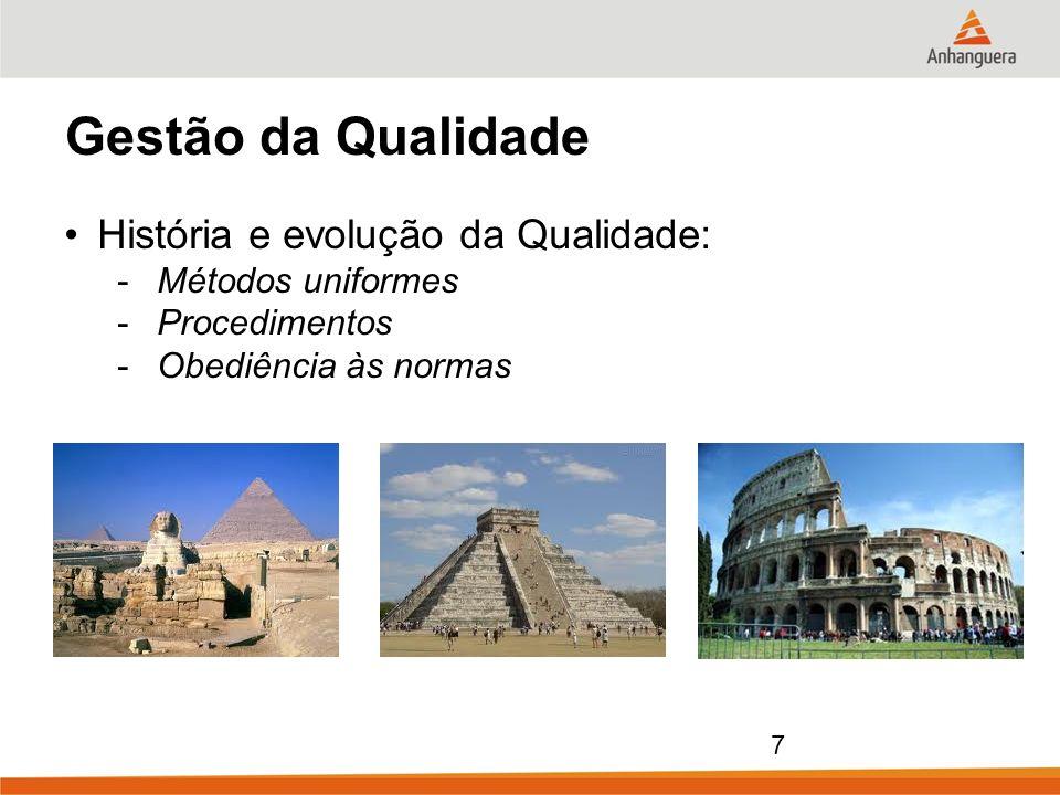 Gestão da Qualidade História e evolução da Qualidade: