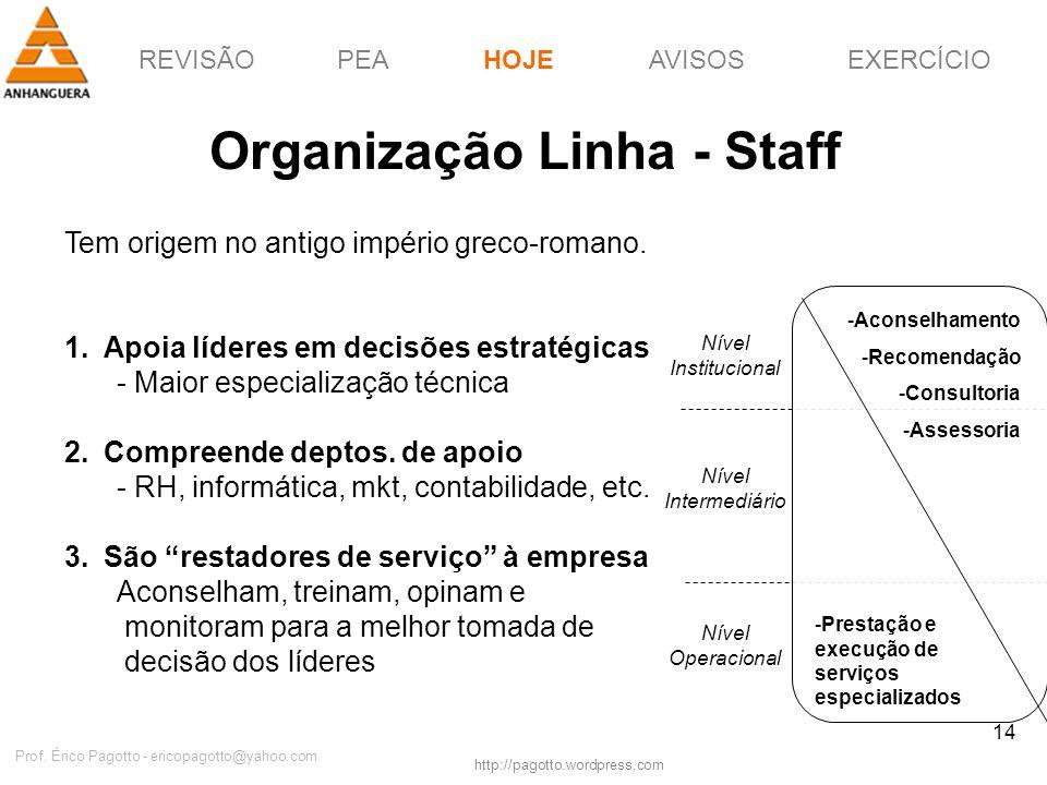 Organização Linha - Staff