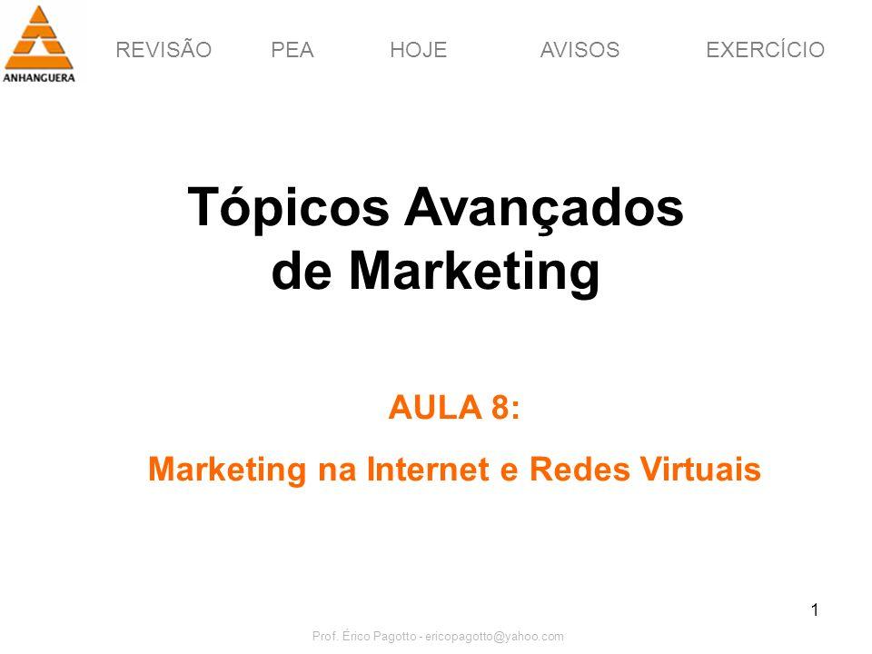 Tópicos Avançados de Marketing Marketing na Internet e Redes Virtuais
