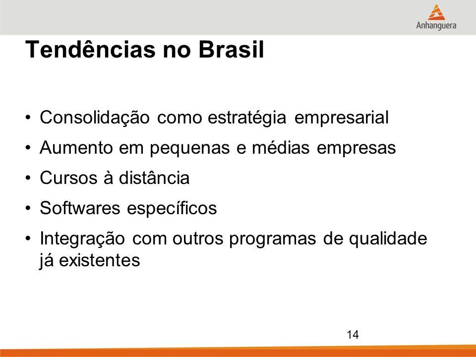 Tendências no Brasil Consolidação como estratégia empresarial