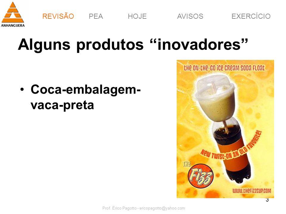 Alguns produtos inovadores