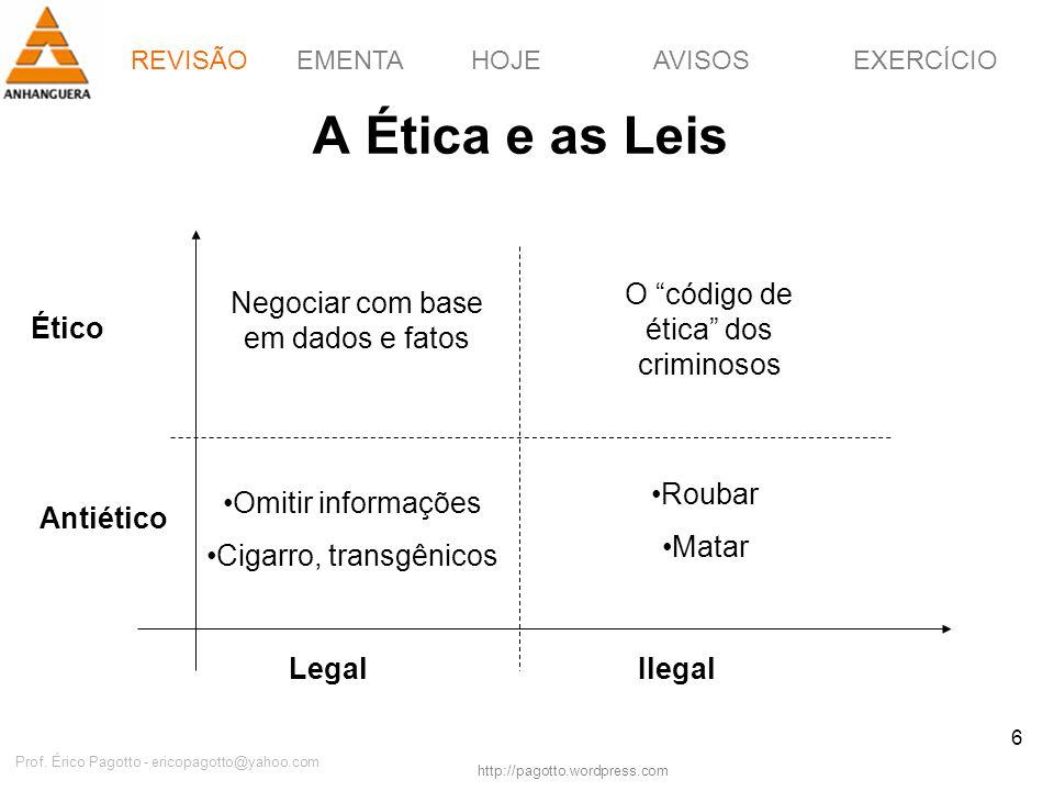 A Ética e as Leis O código de ética dos criminosos