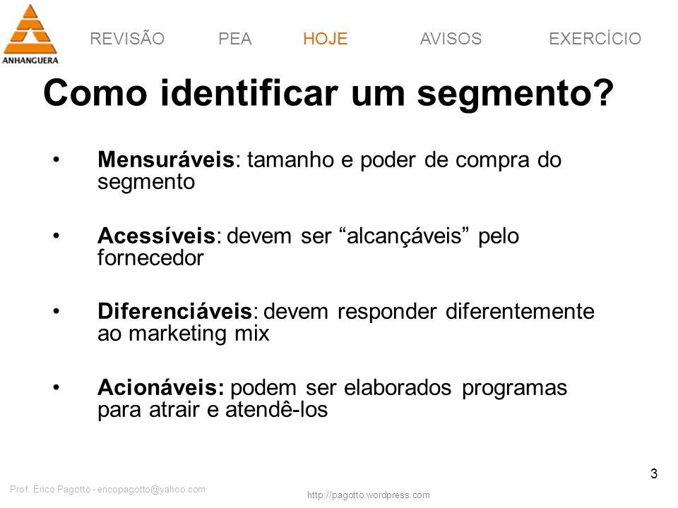 Como identificar um segmento