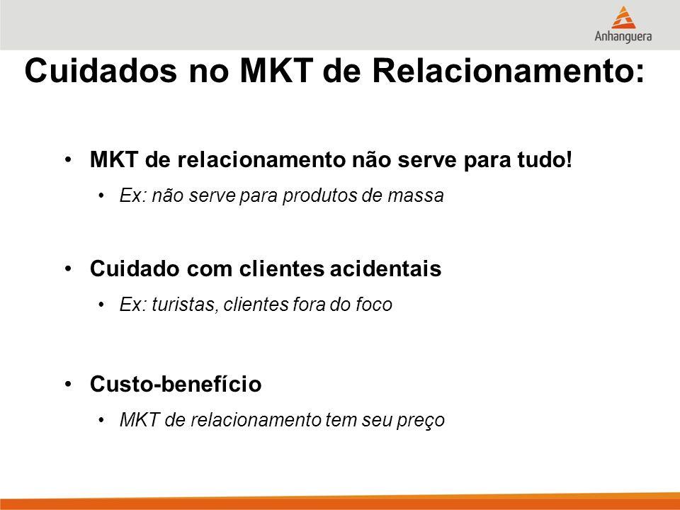 Cuidados no MKT de Relacionamento: