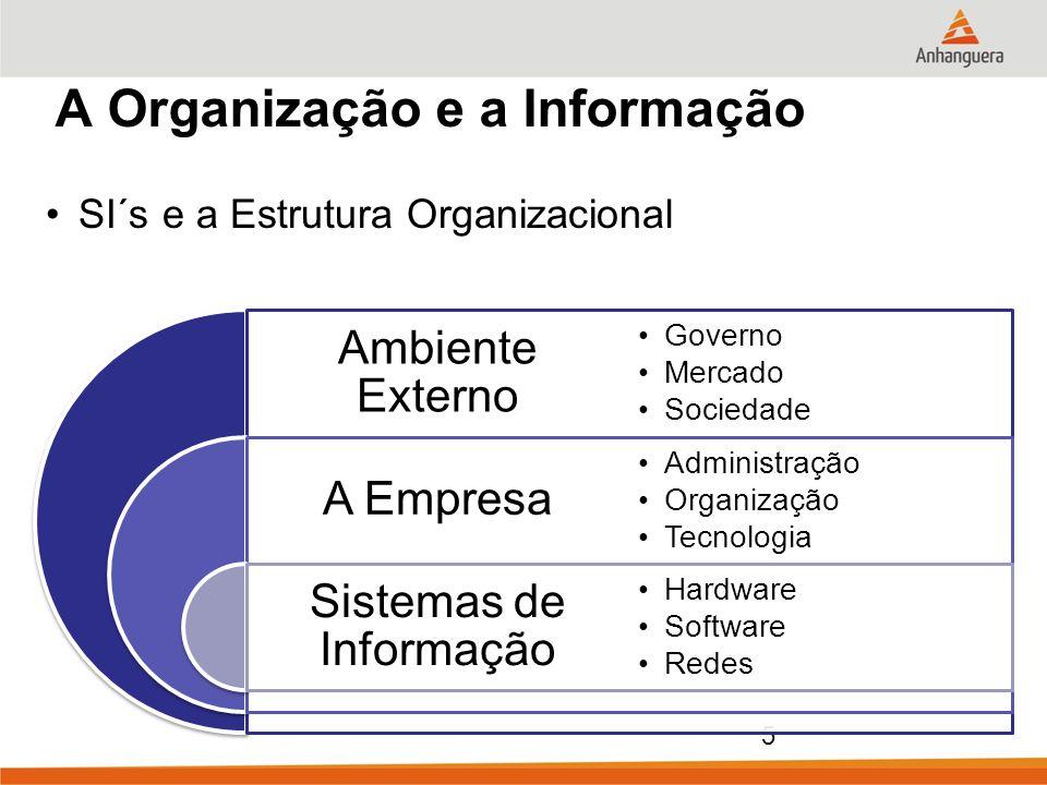 A Organização e a Informação