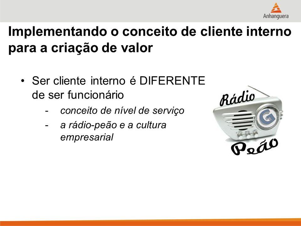Implementando o conceito de cliente interno para a criação de valor