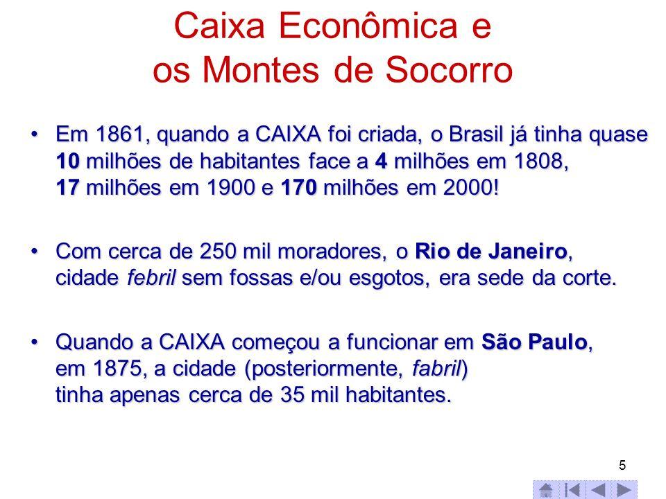 Caixa Econômica e os Montes de Socorro