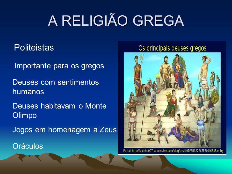A RELIGIÃO GREGA Politeistas Importante para os gregos