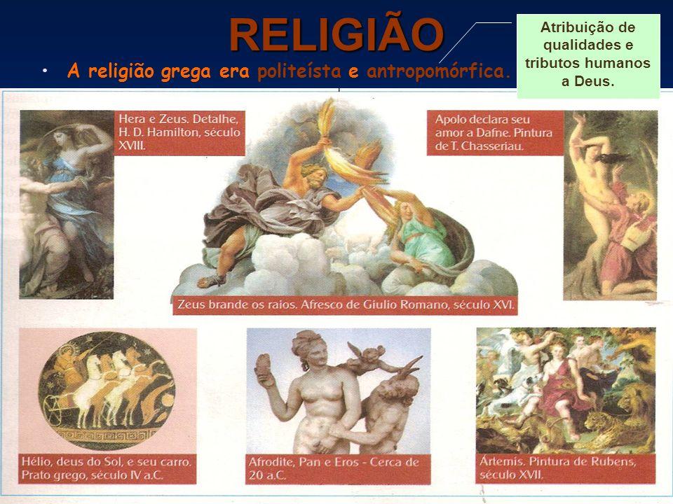 Atribuição de qualidades e tributos humanos a Deus.