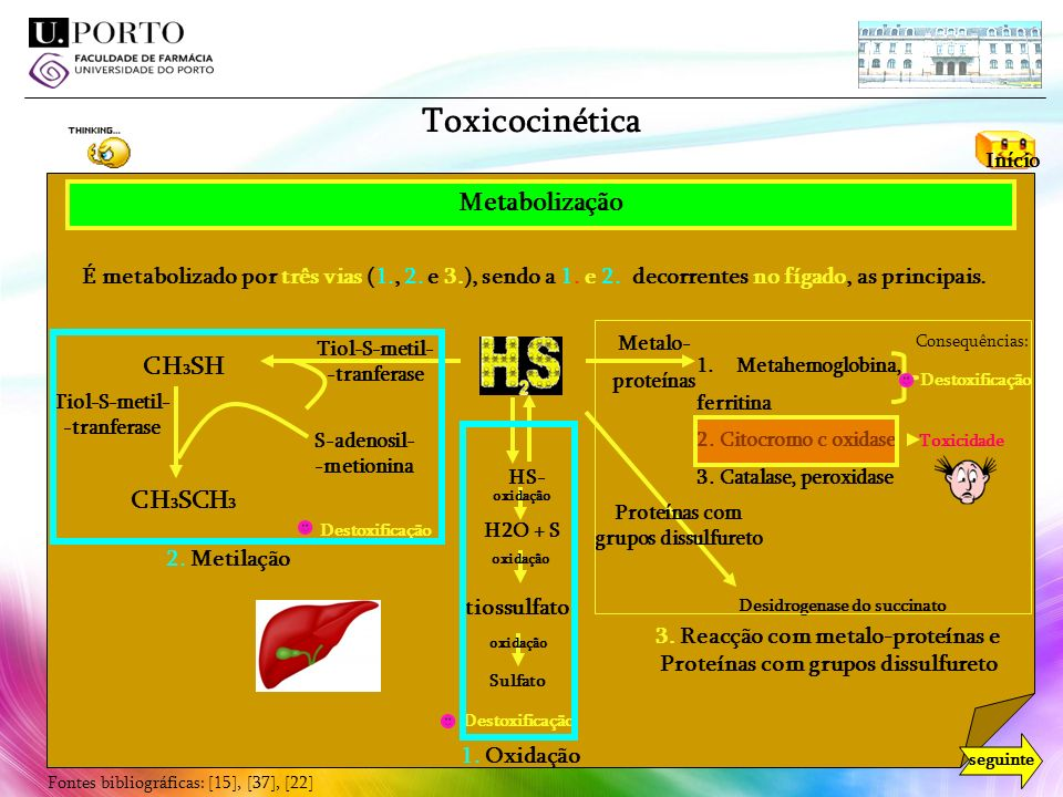 Toxicocinética Metabolização CH3SH CH3SCH3