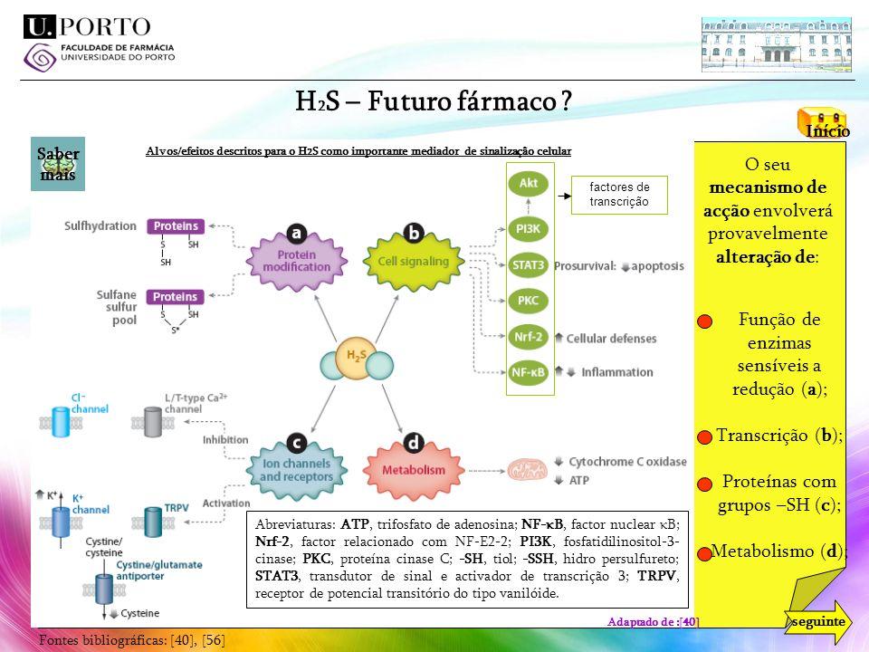 H2S – Futuro fármaco cysteine thiol