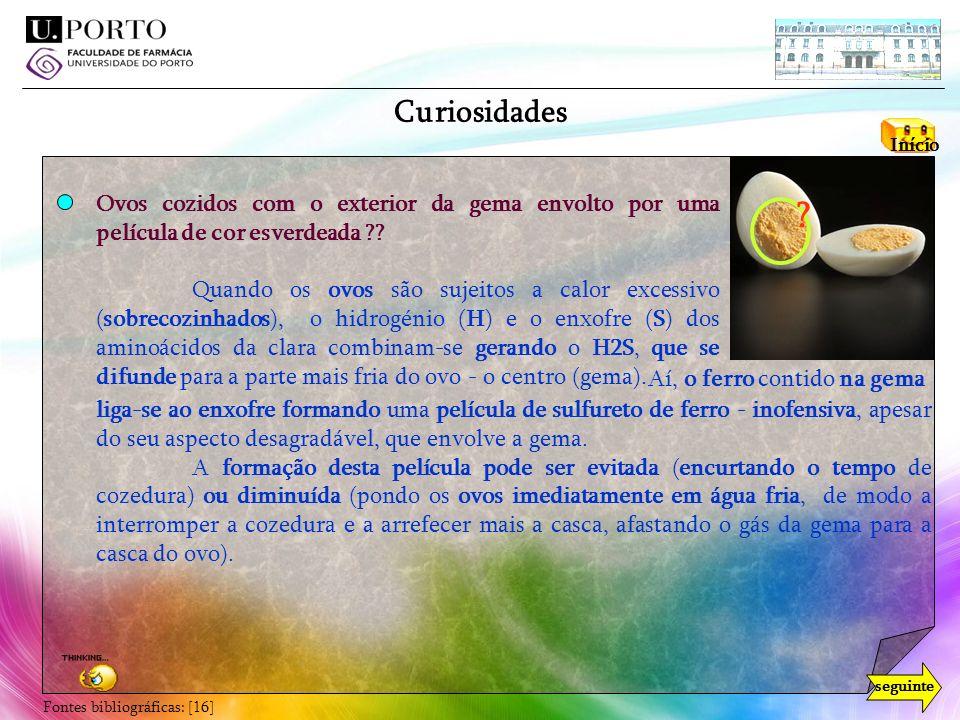 Curiosidades Início. Ovos cozidos com o exterior da gema envolto por uma película de cor esverdeada