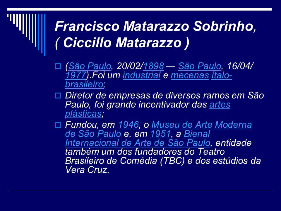 Francisco Matarazzo Sobrinho, ( Ciccillo Matarazzo )