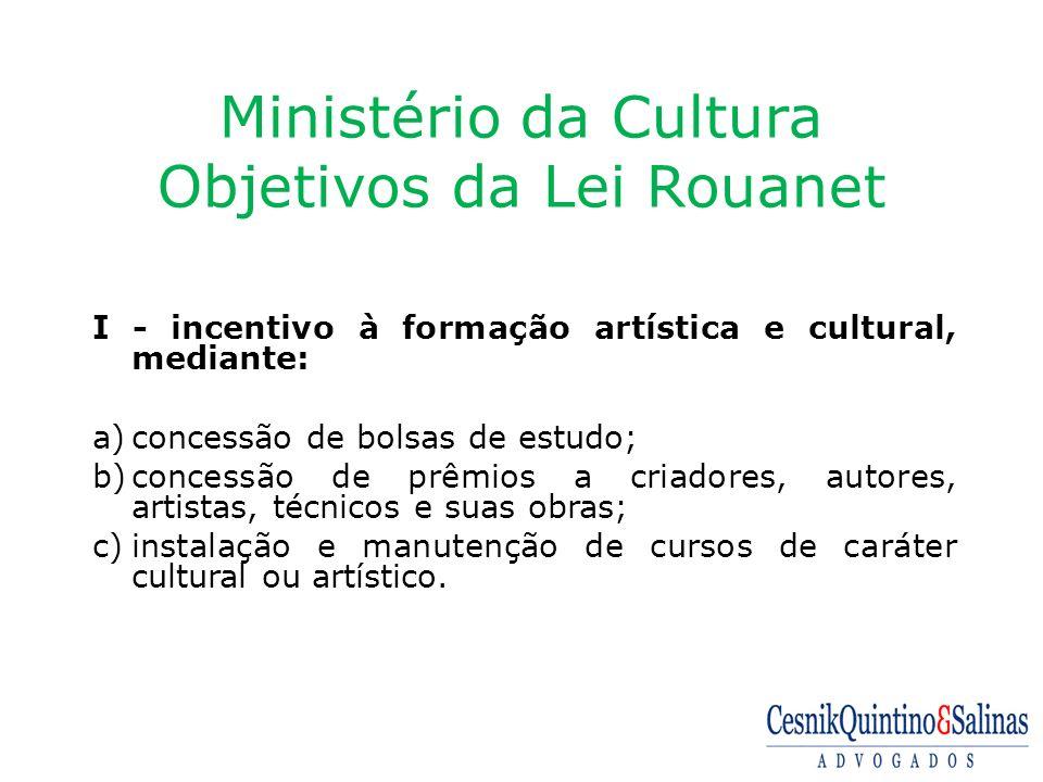 Ministério da Cultura Objetivos da Lei Rouanet