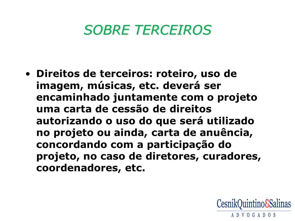 SOBRE TERCEIROS