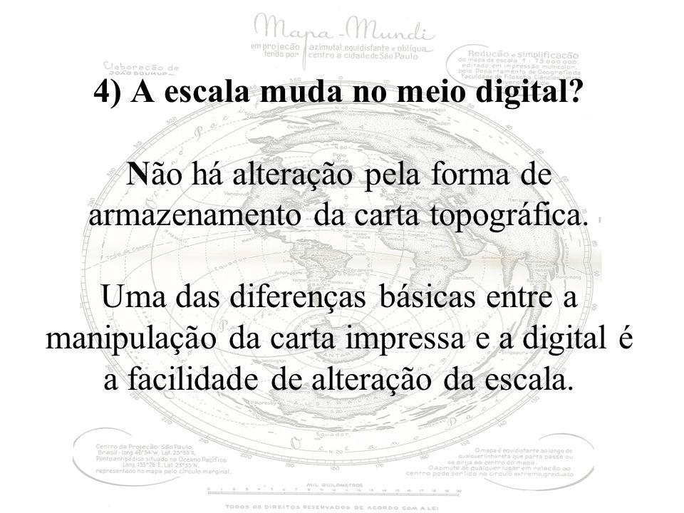 4) A escala muda no meio digital