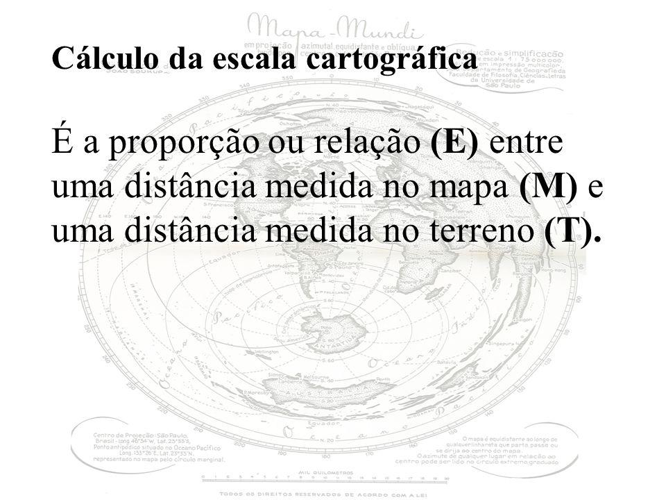 Cálculo da escala cartográfica