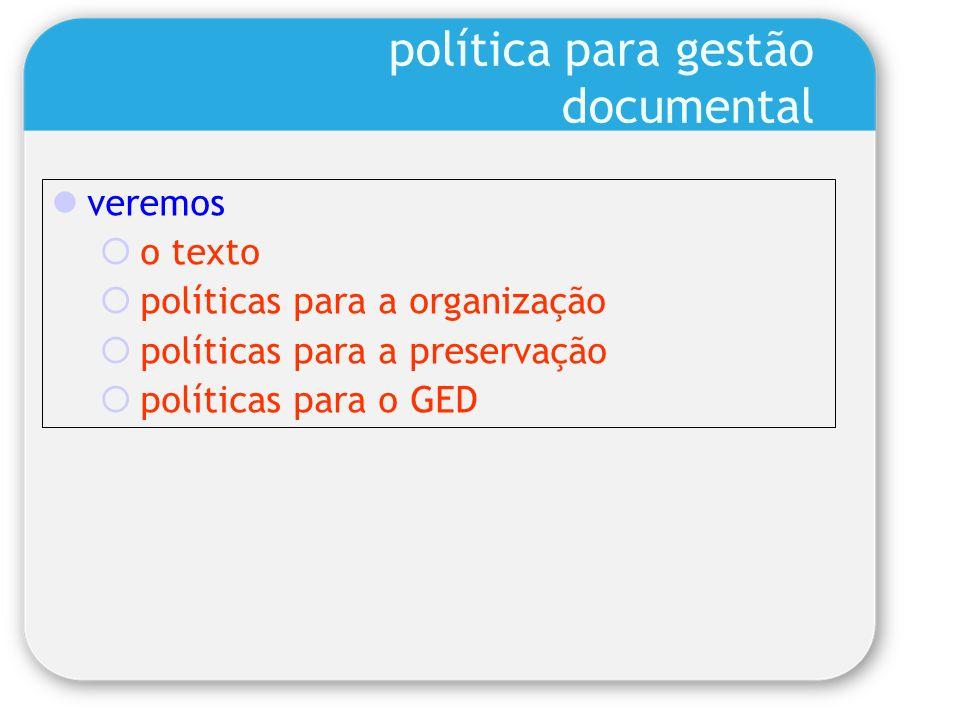 política para gestão documental