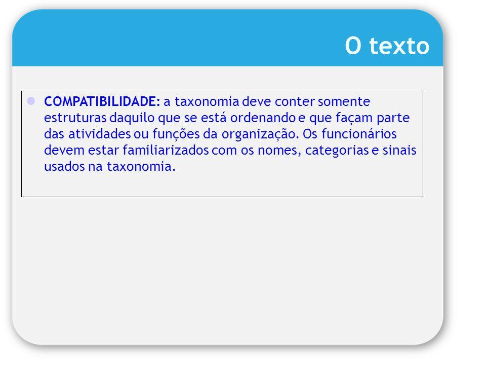 O texto