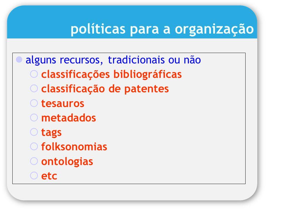 políticas para a organização