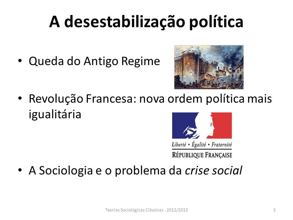 A desestabilização política
