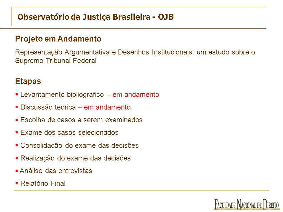Observatório da Justiça Brasileira - OJB