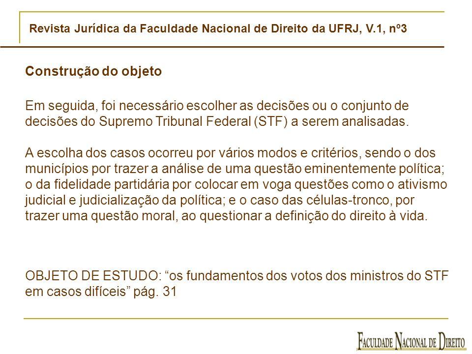 Revista Jurídica da Faculdade Nacional de Direito da UFRJ, V.1, nº3