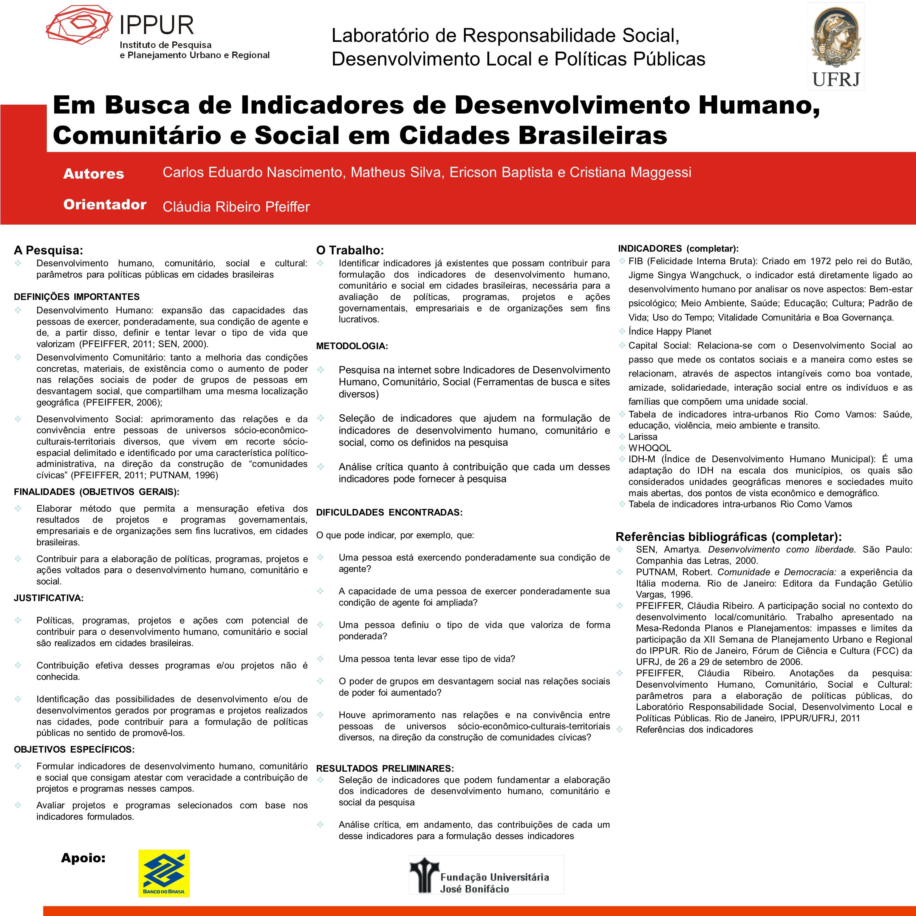Laboratório de Responsabilidade Social, Desenvolvimento Local e Políticas Públicas