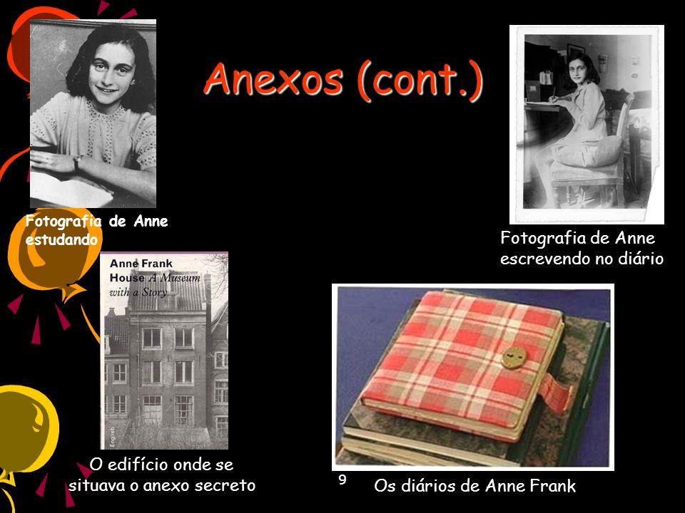 Anexos (cont.) Fotografia de Anne escrevendo no diário
