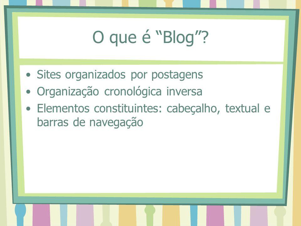 O que é Blog Sites organizados por postagens