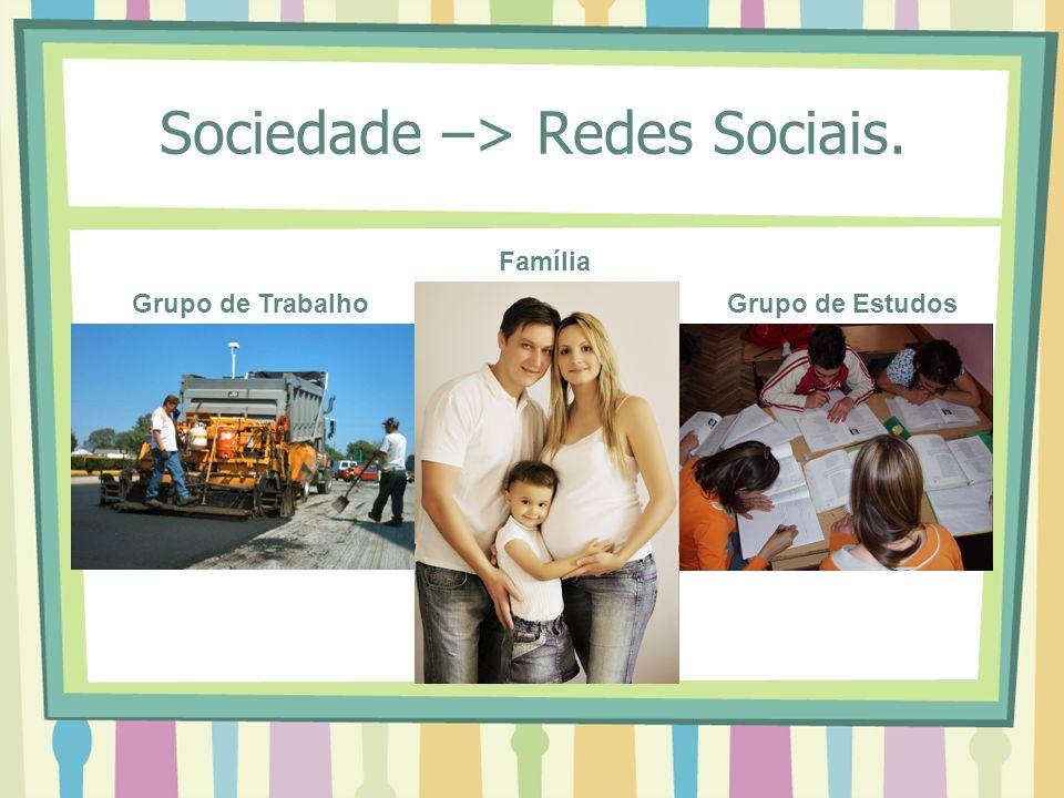 Sociedade –> Redes Sociais.