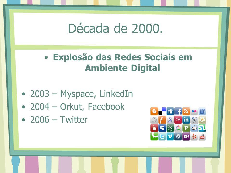 Explosão das Redes Sociais em Ambiente Digital