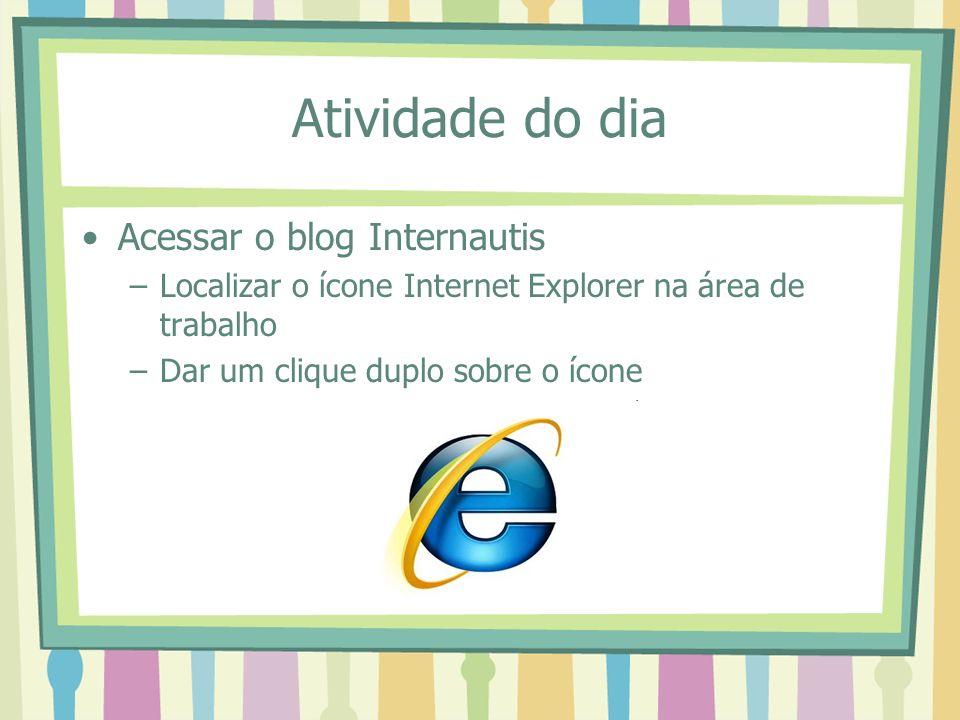 Atividade do dia Acessar o blog Internautis